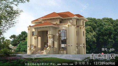 乡村自建三层欧式别墅效果及施工图纸