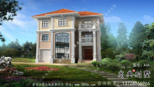 三层欧式高端农村别墅住宅设计图纸