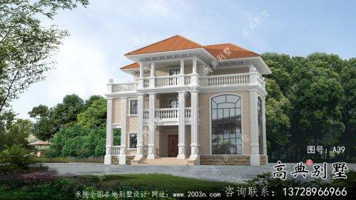 农村三层欧式别墅自建房设计图纸及施