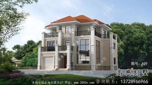 农村复式三层欧式别墅设计图纸大全