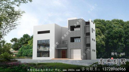 四层简欧乡村自建房别墅设计效果图纸