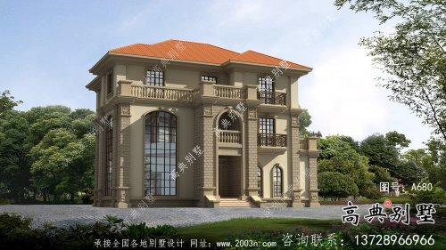 三层欧式别墅农村盖房设计图纸大全