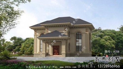 二层欧式古典乡村别墅设计实际效果工