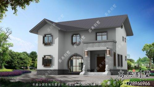 中式古典韵味十足两层房屋设计图(附构