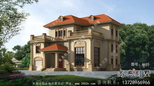 带停车位三层独栋别墅计划方案图-设计