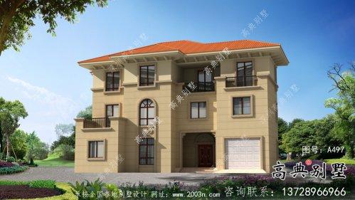 三层欧式风格豪华别墅设计图纸