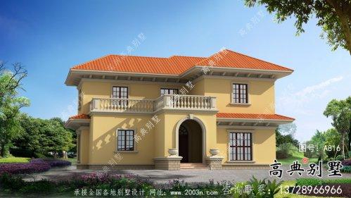 农村二层欧式别墅设计