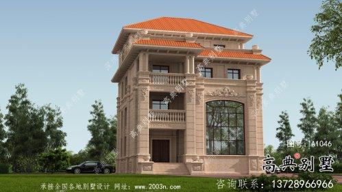 四层意大利风格别墅,配有地下室结构