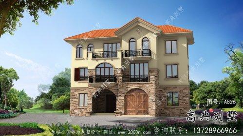 农村三层欧式风格别墅全套设计图