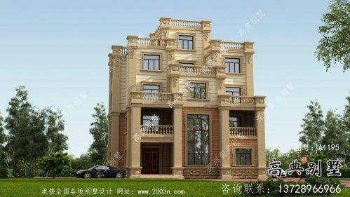 大方精美欧式风格住宅设计图纸+效果图