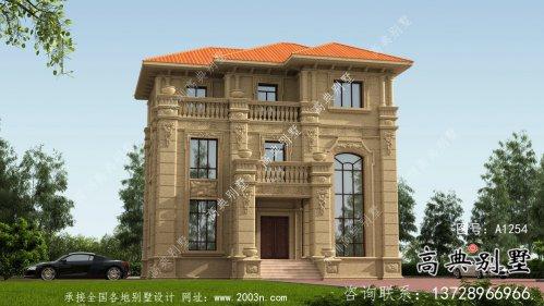 三层奢华大气欧式风格别墅建筑设计