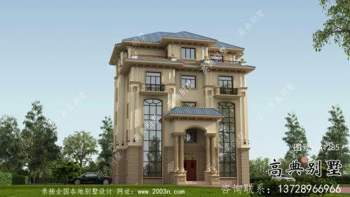 意大利风格的五层别墅效果图