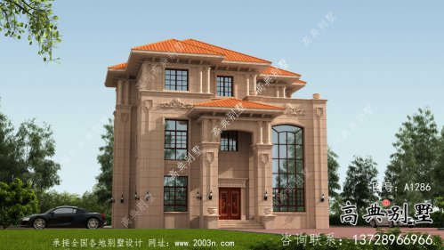 三层豪华大气欧式风格别墅建筑设计