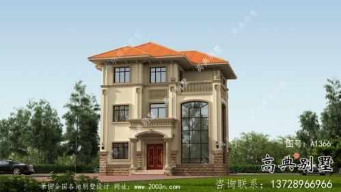 三层乡村复式朴素的独栋别墅效果图