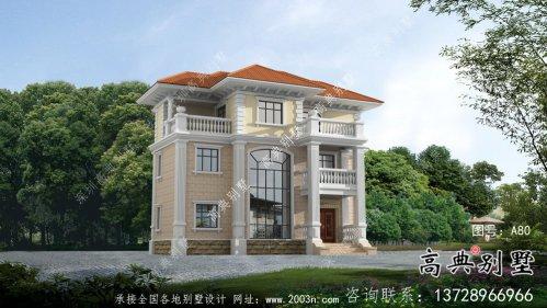 典雅欧式乡村三层自建别墅设计效果图