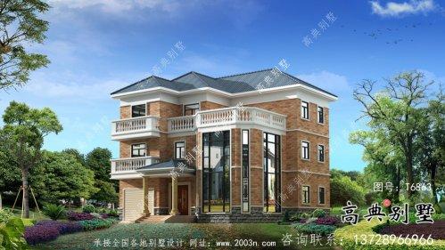 外观简易三层中小型房屋设计图,效果