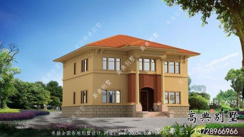 欧式风格二层自建别墅设计效果整套工程图纸