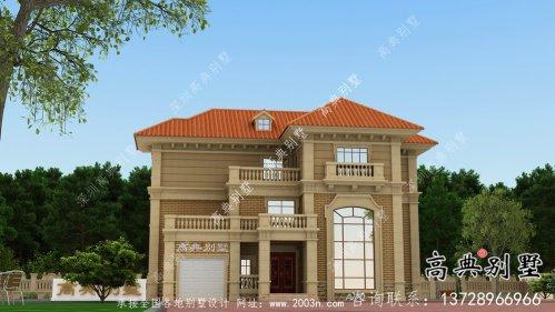 大气欧式风格别墅设计图、设计效果图、构造