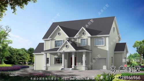 美式三层欧式别墅全套设计施工效果图