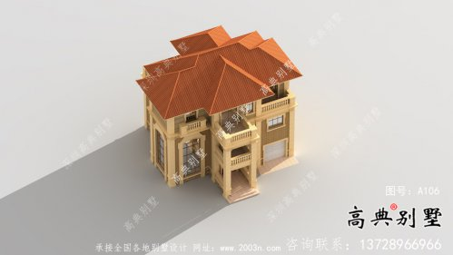 三层欧式设计风格建筑设计图+设计效果