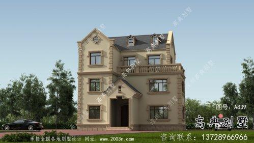 大气三层法式别墅设计效果图