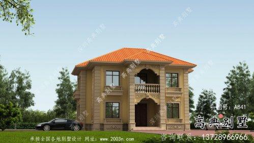 二层欧式乡村别墅全套设计和施工效果