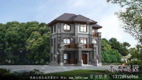 中小型中式别墅,新中式风格别墅设计图