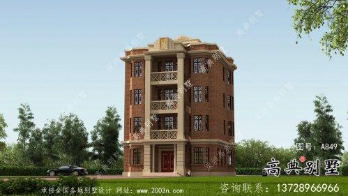 农村五层欧式别墅自建全套施工效果图