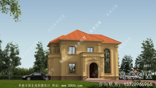 二层欧式复式客厅别墅自建工程设计效果