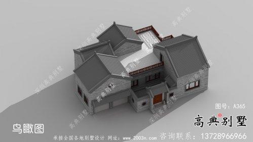 乡村单层院子别墅,设计效果图