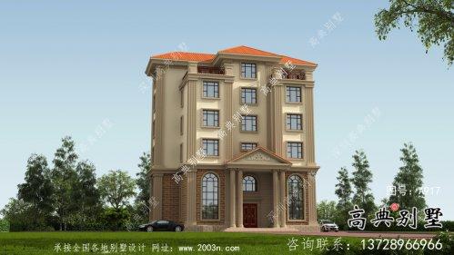 乡村六层欧式别墅自建设计图纸整套