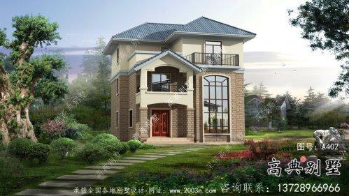 三层复式欧式风格农村自建房设计图