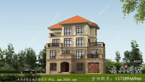 新农村四层自建别墅外观设计效果图纸
