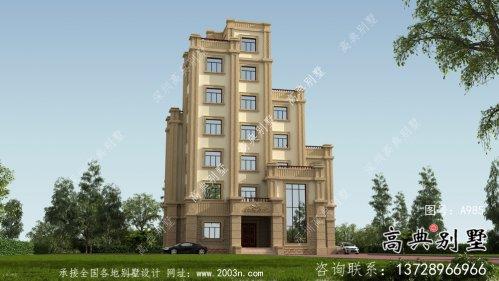 简欧风格美观大方六层新农村建设别墅