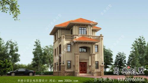 农村盖房三层欧式别墅外观效果图