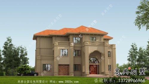 三层欧式风格别墅设计方案图带(效果