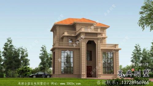 三层欧式意大利风格小康型农村别墅设计