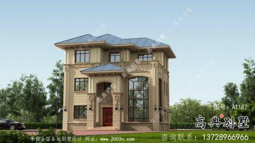 三层性价比高农村房屋设计图+设计效果图