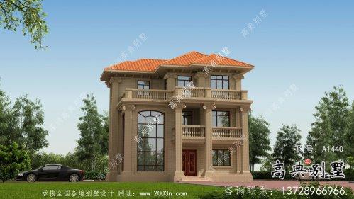 农村自建三层法式别墅复式客厅施工图
