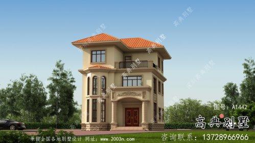 乡村自建欧式风格三层别墅设计工程图纸
