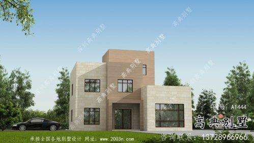 现代农村三层别墅设计效果图