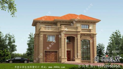 法式风格简约框架三层别墅设计图