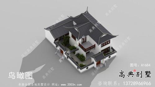 苏式园林二层中式别墅整套设计图纸