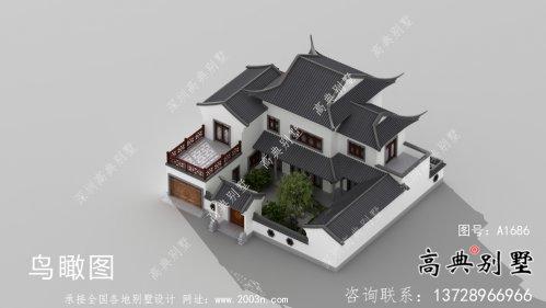 自建中式二层苏式园林别墅设计图纸