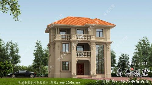 简洁大方三层复式别墅户型设计图纸