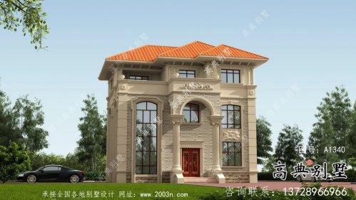 简洁大气三层法式风格自建房建筑图纸
