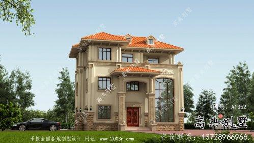 简单实用三层欧式风格别墅效果图