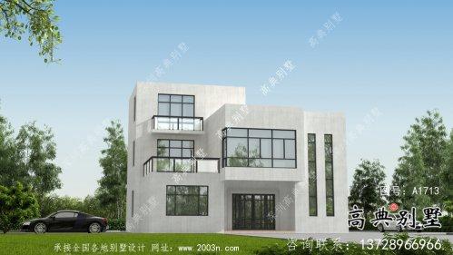 农村现代简易自建三层别墅全套设计及施工图纸