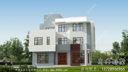 现代风格平屋顶别墅设计图附带效果图