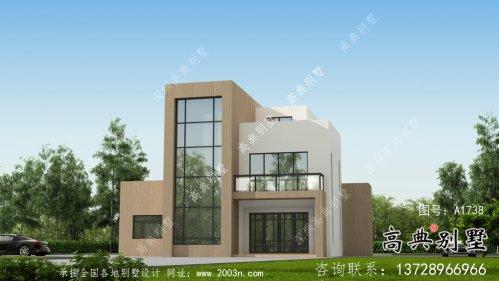 三层现代风格平屋顶独栋别墅设计方案